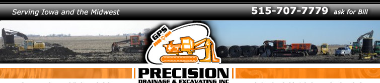 Precision Drainage and Excavating, serving Iowa and Minnesota
